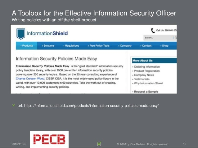 website security policy template