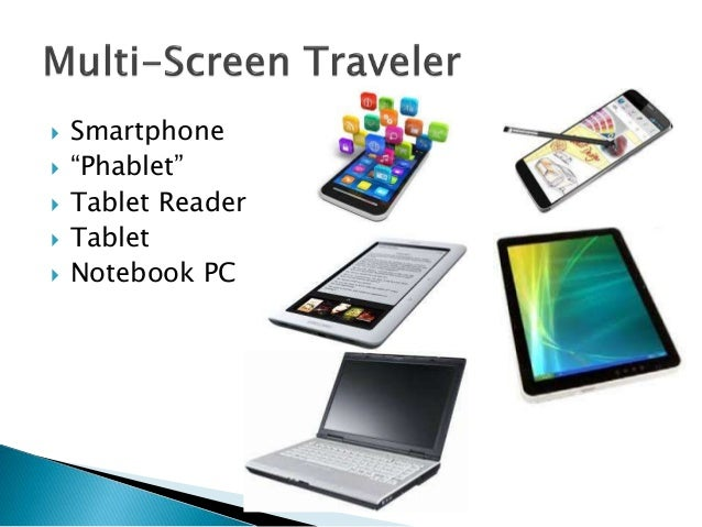 """ Smartphone  """"Phablet""""  Tablet Reader  Tablet  Notebook PC"""