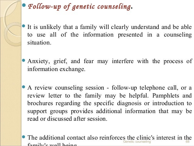 Genetic counselling - a review