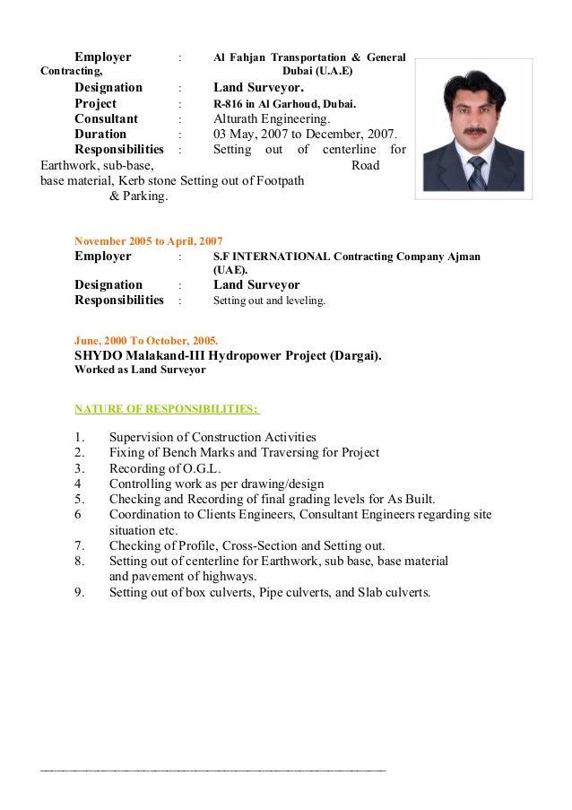 resume format for land surveyor resume format. senior quantity ...