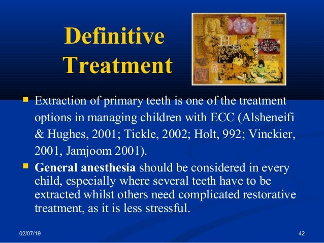 Management of early childhood caries and rampant caries