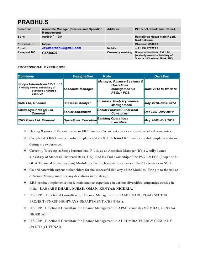 PRABHU Resume