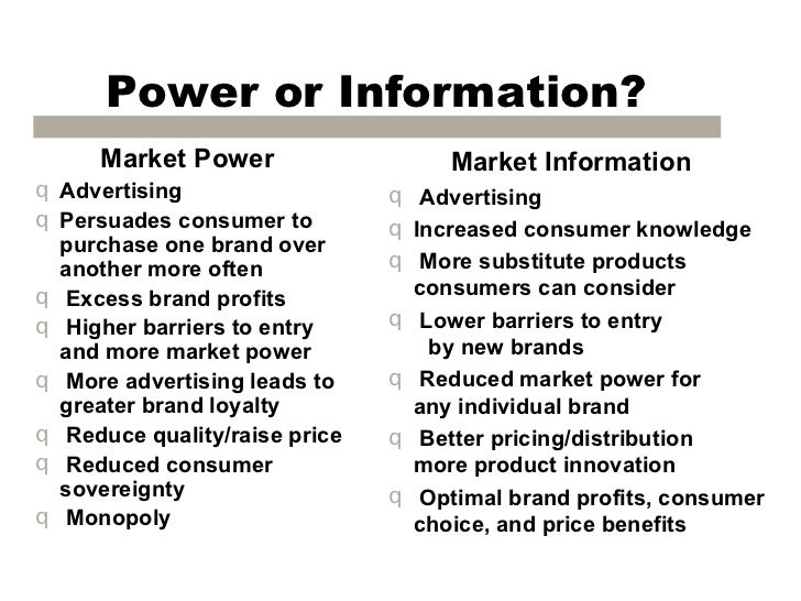 advertising consumer sovereignty In this way, advertising educates the consumer to pay attention to certain features or performances in particular  consumer sovereignty,.
