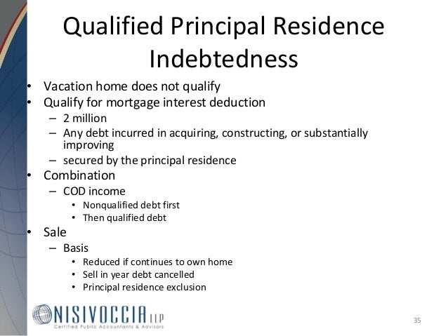What Is Qualified Real Property Business Indebtedness