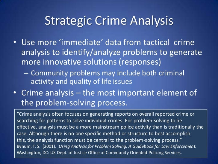 an analysis of criminals and crimes The behavioral analysis unit (bau) is a department of the united states federal bureau of investigation's national center for the analysis of violent crime (ncavc) that uses behavioral.