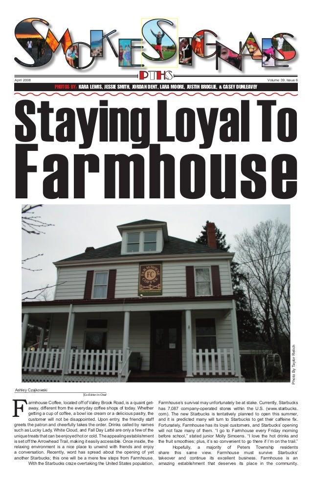 PTHS  April 2008  Volume 39, Issue 6  Staying Loyal To Photos By: Kara Lewis, Jessie smith, Jordan Dent, Lara Moore, Justi...