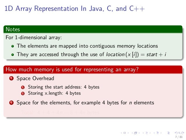 array representation Array implementation and linked list as datat structure 1 presented by: akshay wadalkar 2 an array is a collection of elements of.