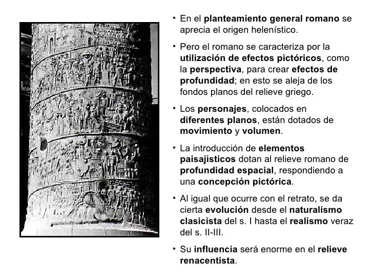<ul><li>En el  planteamiento general romano  se aprecia el origen helenístico. </li></ul><ul><li>Pero el romano se caracte...