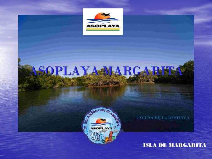 ASOPLAYA MARGARITA            LAGUNA DE LA RESTINGA              ISLA DE MARGARITA