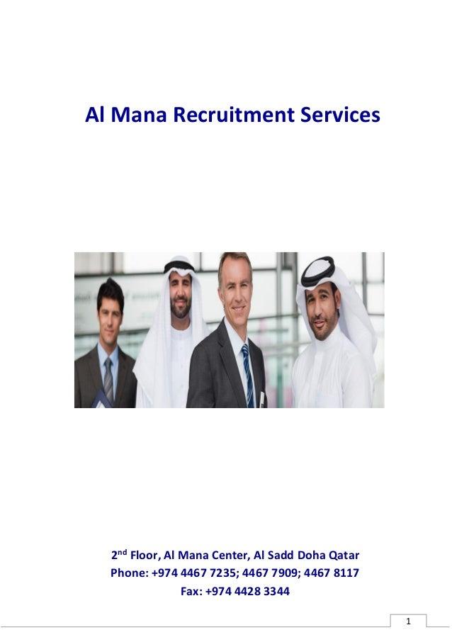 Al Mana Recruitment Profile