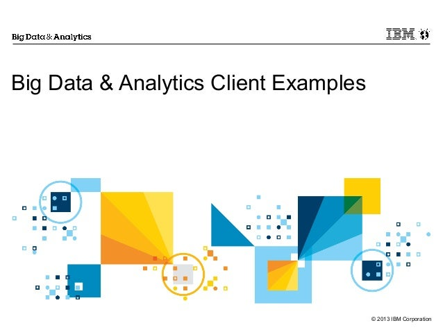 big data analytics client examples