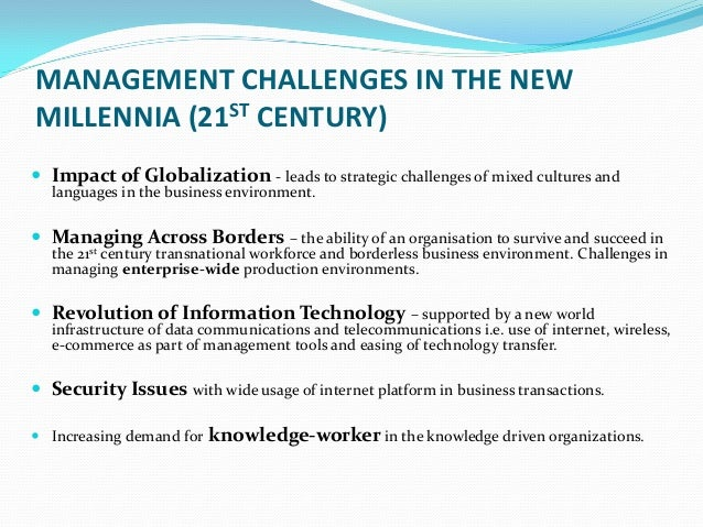 challenging of management in 21st century Teaching and learning science in the 21st century: challenging critical assumptions in post-secondary science.