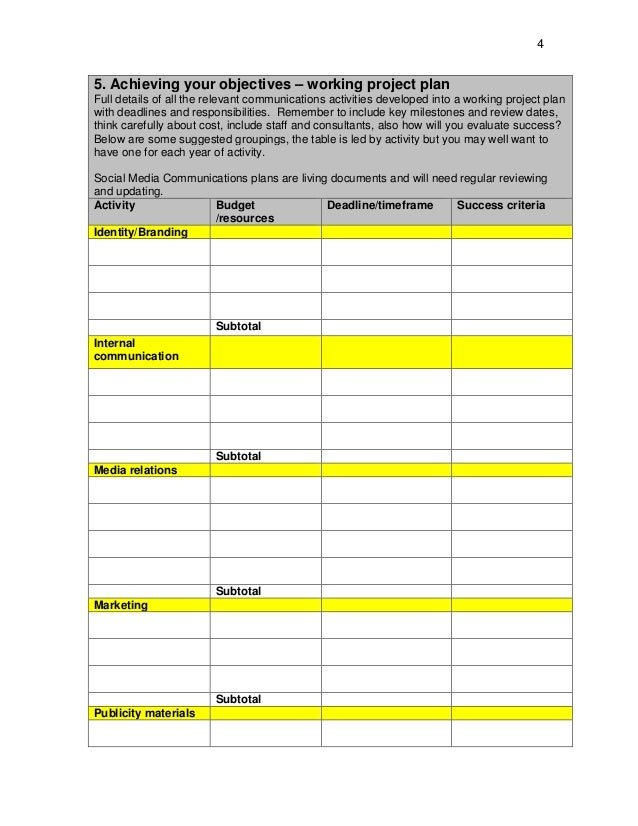 Media Plan Template Www Nemode Ac Uk  Any Marketing Strategy