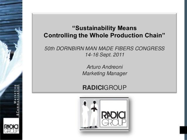 """Progetto Codice EticoObiettivi                 """"Sustainability Means       Controlling the Whole Production Chain""""       5..."""