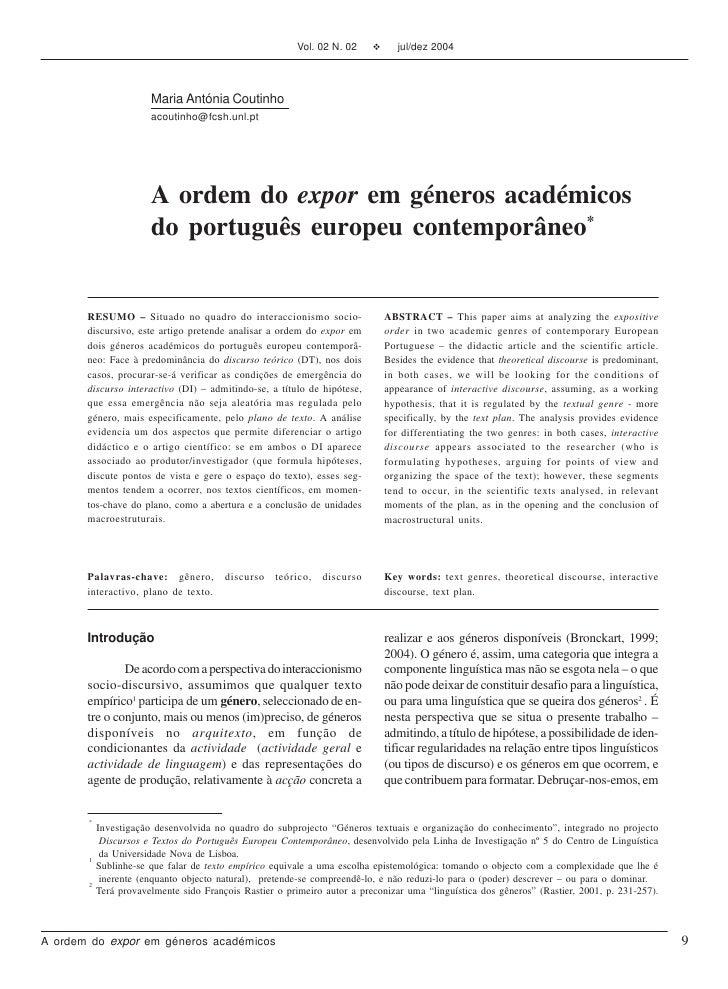 Vol. 02 N. 02    v      jul/dez 2004                       Maria Antónia Coutinho                       acoutinho@fcsh.unl...