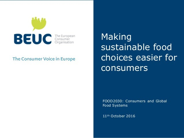 Making sustainable food choices easier for consumers