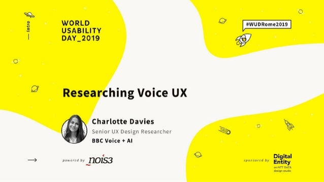 UX Design Researcher @char1ottedavies UX for Voice Behind the curtain: