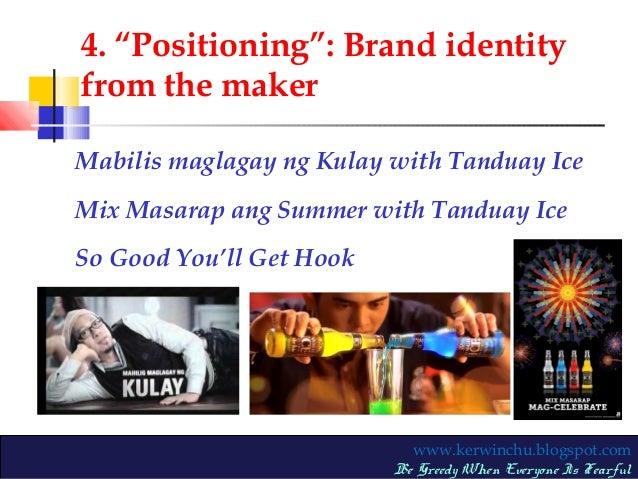 Marketing plan tanduay ice