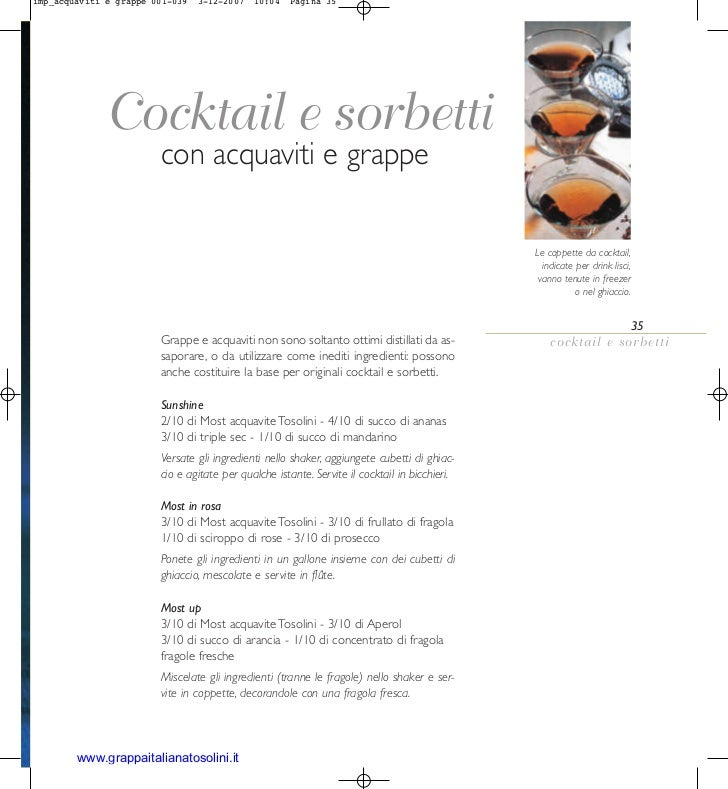 imp_acquaviti e grappe 001-039   3-12-2007   10:04   Pagina 35             Cocktail e sorbetti                        con ...