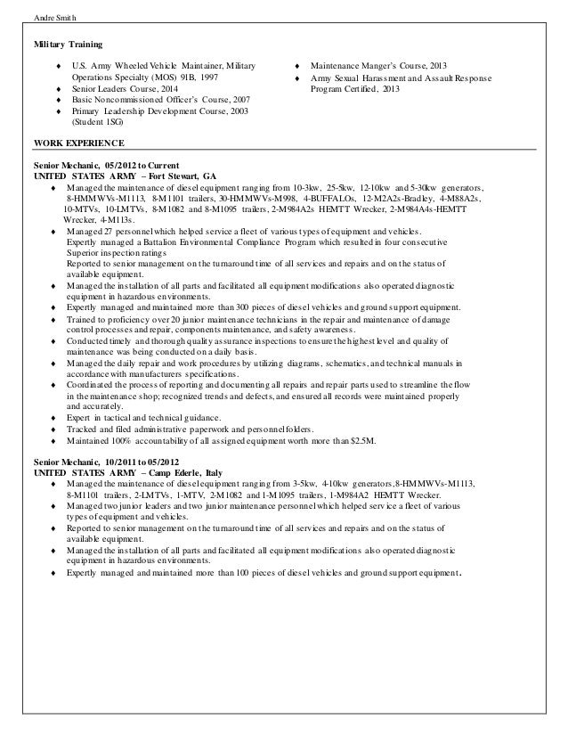 91b resume