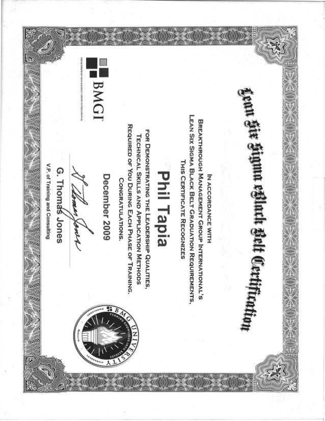 Bmgi Lssbb Certification