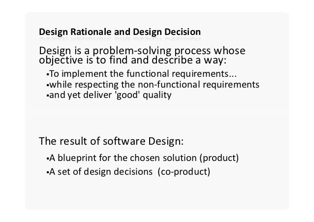 Software architecture design decisions architecture as a set of design decisions 7 malvernweather Gallery
