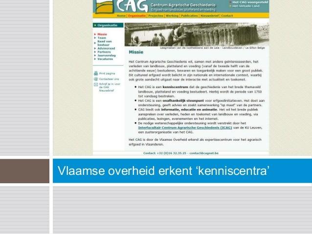 Vlaamse overheid erkent 'kenniscentra'