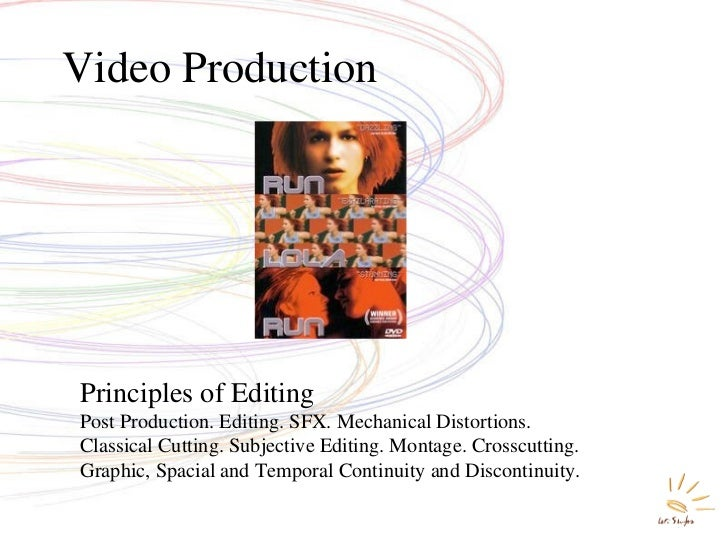 Video Production Principles of Editing Post Production. Editing. SFX. Mechanical Distortions.  Classical Cutting. Subjecti...