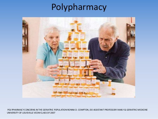 polypharmacy in the elderly The battle, known as polypharmacy, is estimated to cause the death of 100000  elderly each year learn about the risk of polypharmacy, dangerous drug.