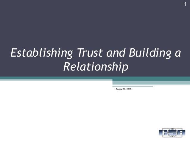re establishing trust in a relationship