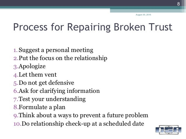 Building trust in a relationship after its been broken