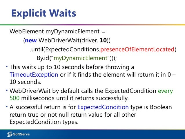 selenium implicit wait