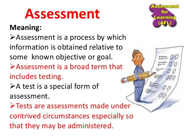 Unit 1 a) Meaning nature and functions of Assessment Slide 2