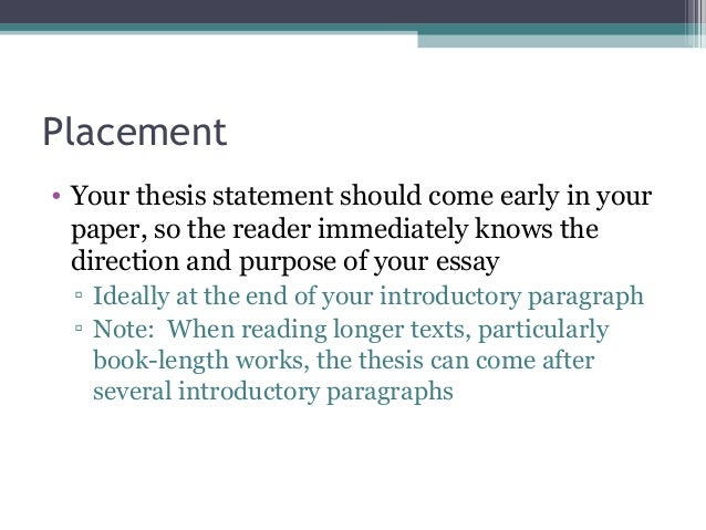 thesis statement template