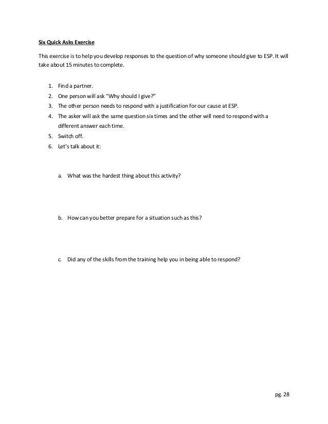 ESP Fundraising Workshop Manual