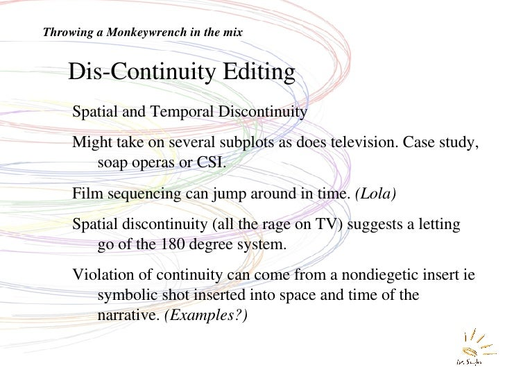 discontinuity editing examples