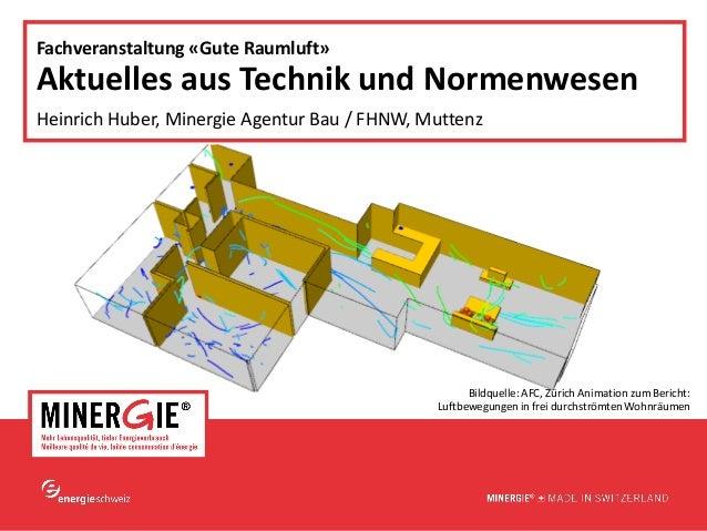 www.minergie.ch  Fachveranstaltung «Gute Raumluft», 16. Okt. 2014  Aktuelles aus Technik und Normenwesen Heinrich Huber, M...