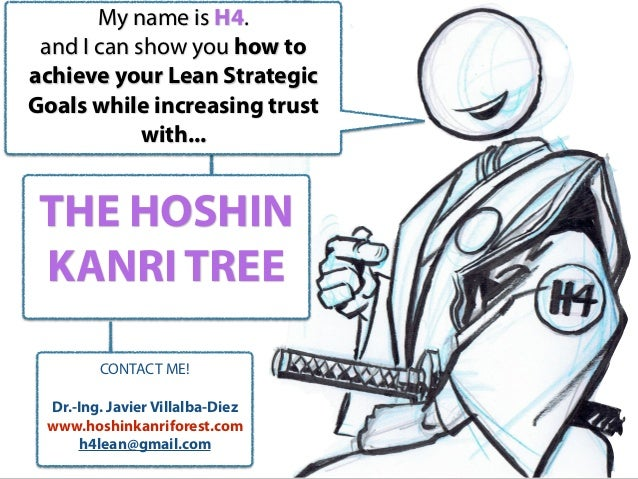 THE HOSHIN KANRI TREE My name is H4. and I can show you how to achieve your Lean Strategic Goals while increasing trust wi...