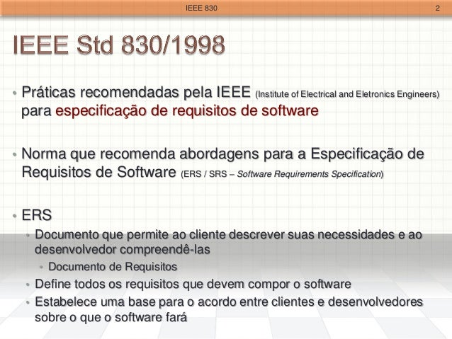 Ieee 830 for Ieee definition