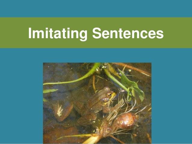Imitating Sentences
