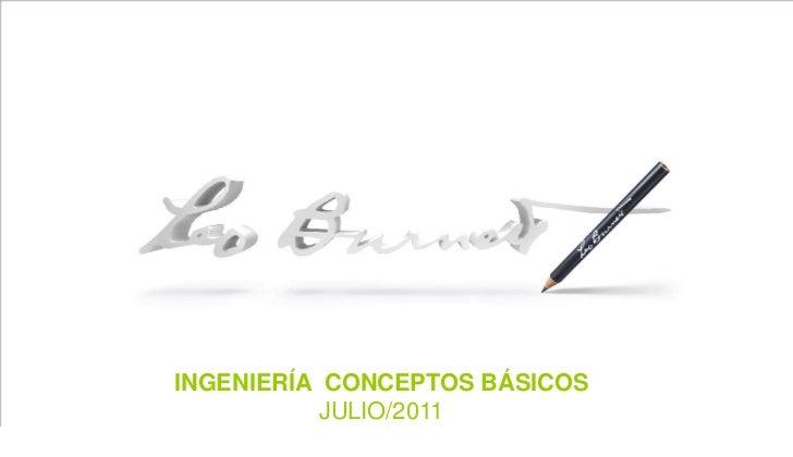 INTRO PAGE<br />INGENIERÍA  CONCEPTOS BÁSICOS<br />JULIO/2011<br />