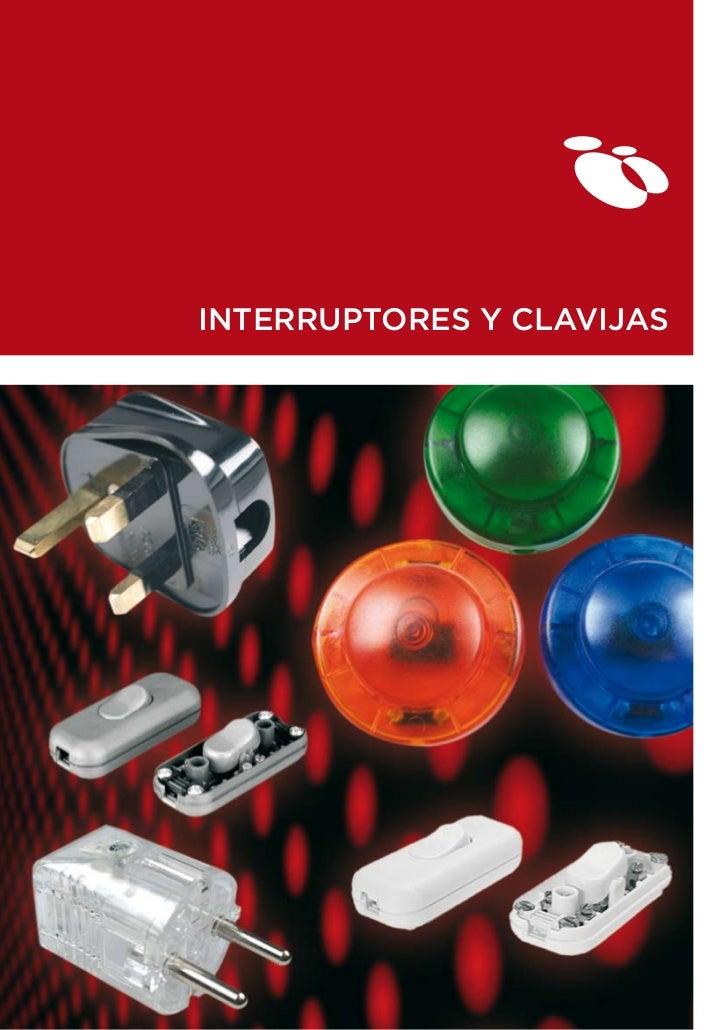 INTERRUPTORES Y CLAVIJAS