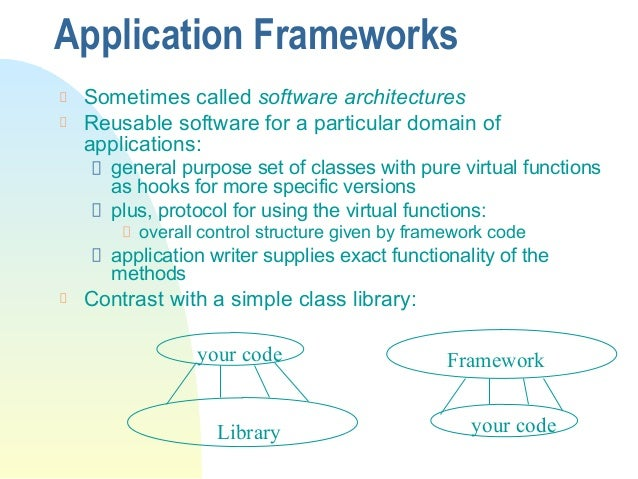 mfc class and application framework