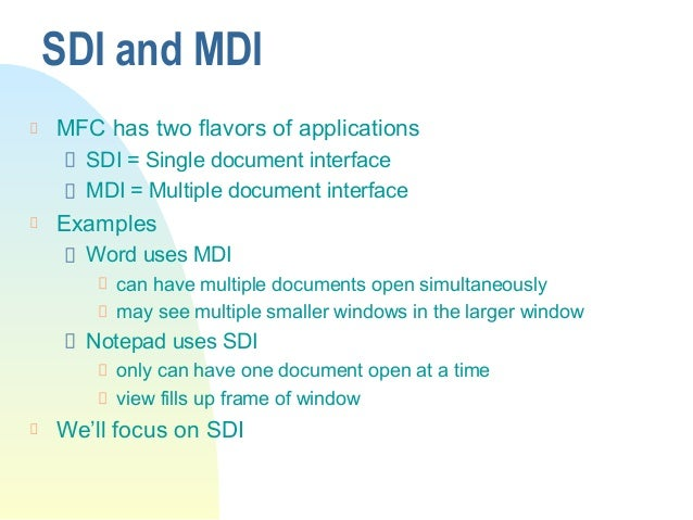 Scribble Sample Mfc Mdi Drawing Application : Introduction to mfc