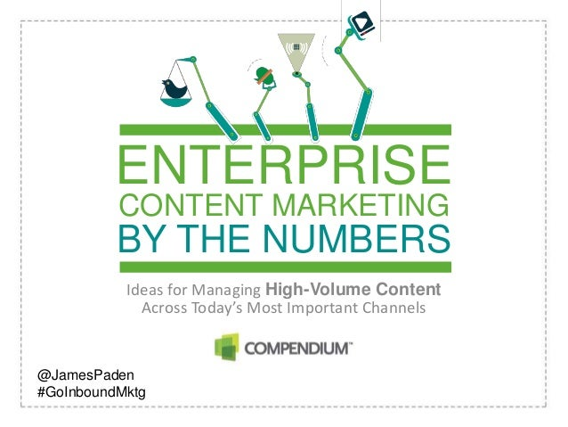 CONTENT MARKETINGBY THE NUMBERSIdeas for Managing High-Volume ContentAcross Today's Most Important ChannelsENTERPRISE@Jame...