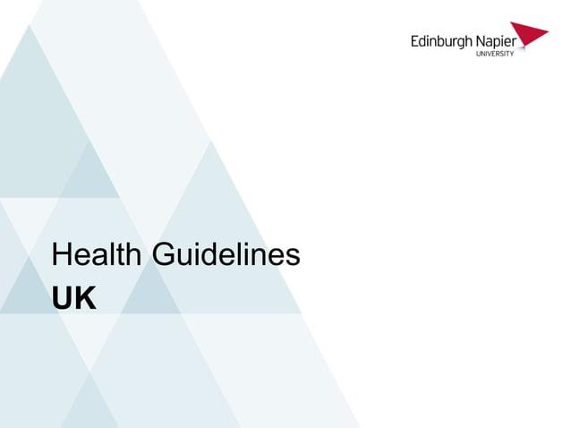 UK Health Guidelines
