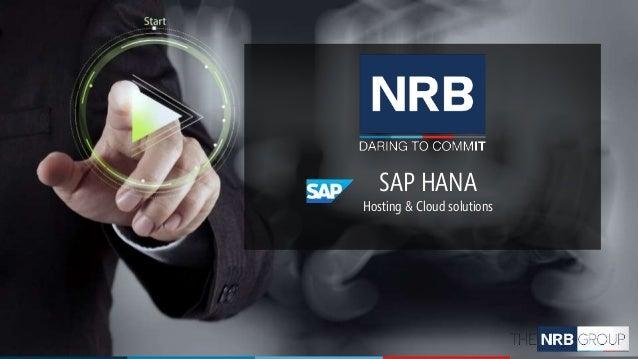 SAP HANA Hosting & Cloud solutions