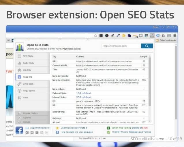 Browserextension:OpenSEOStats