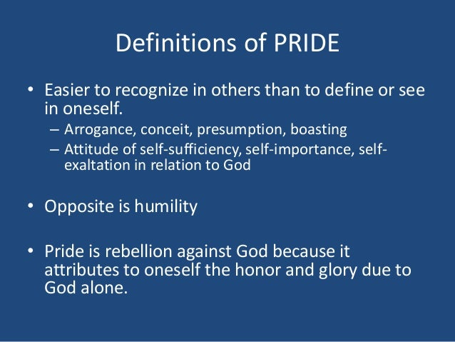 Image result for Pictures of the sin of Pride