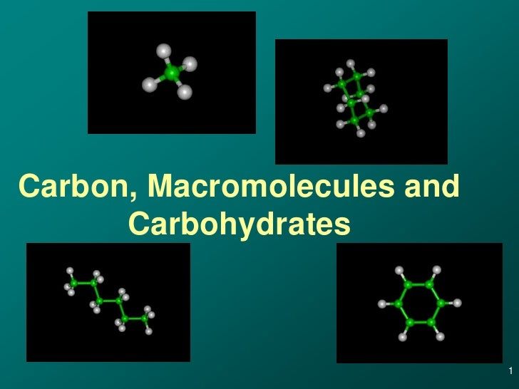 Carbon, Macromolecules and      Carbohydrates                             1
